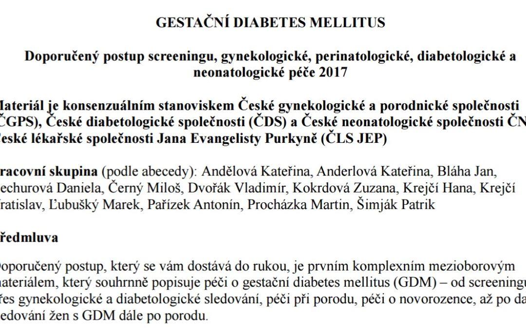 Hana Krejčí onových českých stravních doporučení pro těhotenskou cukrovku
