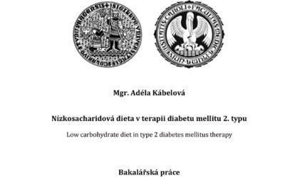 Kábelová (2018) Nízkosacharidová dieta vterapii diabetu mellitu 2.typu – bakalářská práce