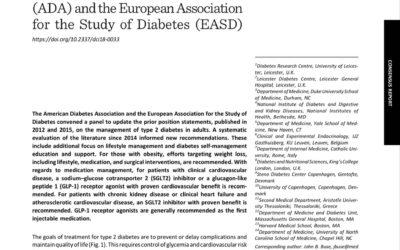 ADA-EASD (2018) Léčba hyperglykémie udiabetu 2.typu. Společné stanovisko ADA/EASD