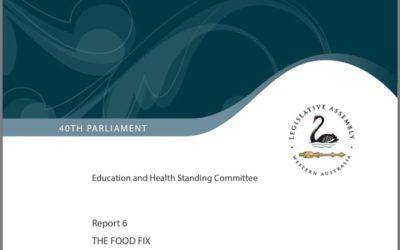 Parlament Západní Austrálie (2019) Náprava stravou – Role stravy vprevenci aléčbě diabetu 2.typu
