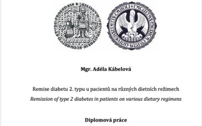 Kábelová (2020) Remise diabetu 2.typu upacientů na různých dietních režimech – diplomová práce