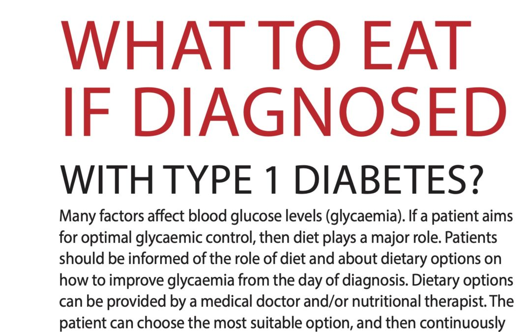 Vyjidak (2021) What to eat if diagnosed with Type 1 Diabetes – DIAstyl 1/2021
