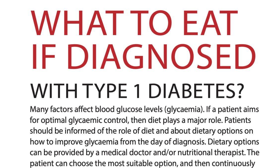 Vyjidak (2021) What to eat if diagnosed with Type 1 Diabetes – DIAstyl 1/2021